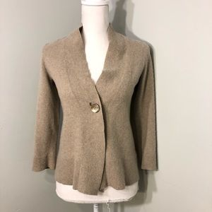 Jones New York Beige Cashmere Cardigan Small